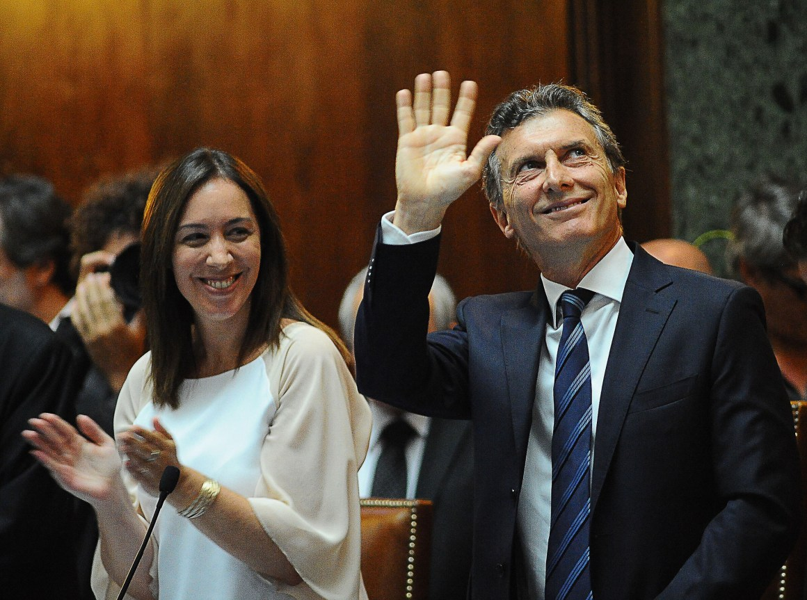 Mauricio Macri, the new president of Argentina, seen here in the file photo from March 2015. Credit: Mauricio Macri/Flickr