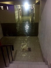 Flooding inside an apartment complex in Velachery, following two days of cyclonic rains in Chennai. Credit: Caarthick Raju