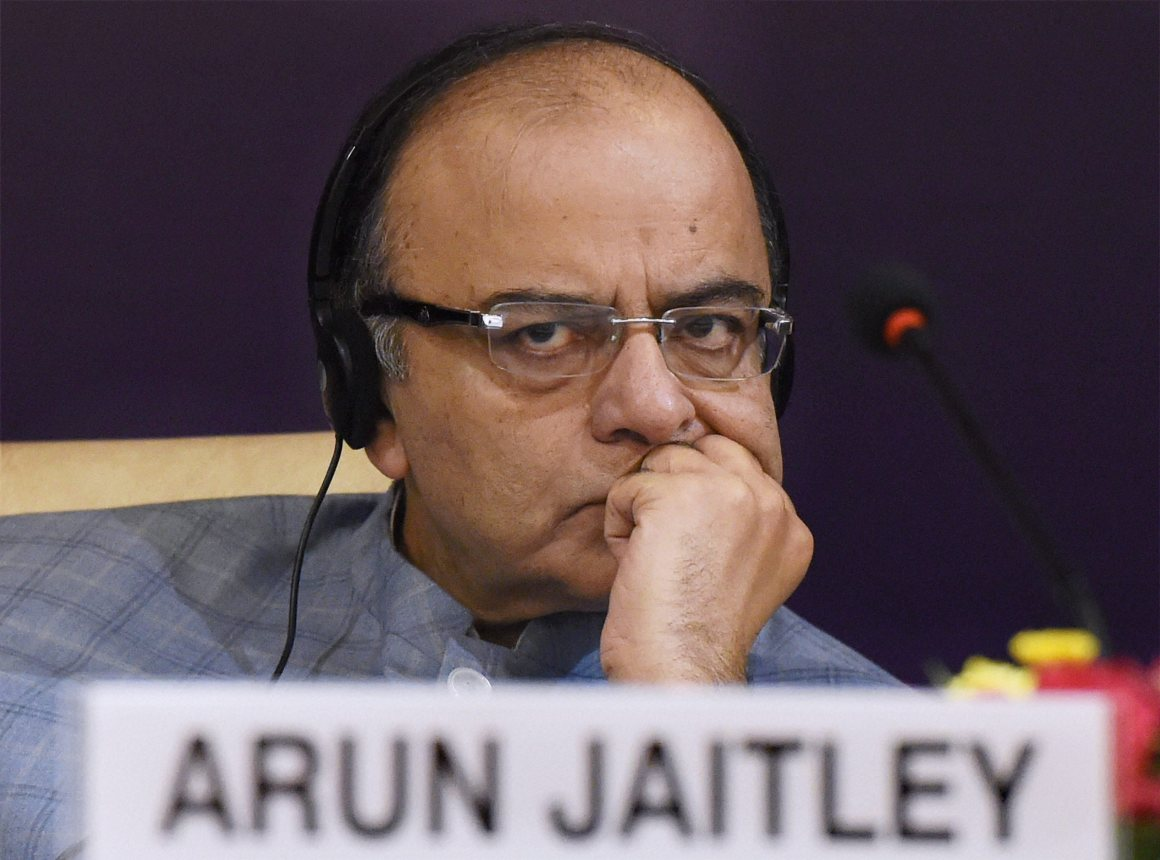 "Finance Minister Arun Jaitley during the International Conference on ""Networking the Networks"", in New Delhi on Monday. Credit: PTI"