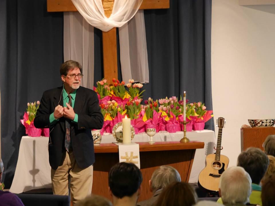 Jim Rigby in his church. Credit: Jim Rigby
