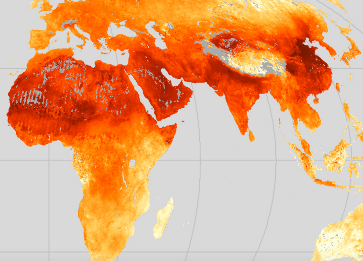 A map of fine particulate matter in the atmosphere logged by the NASA Earth Observatory in 2010-2012. Credit: NASA