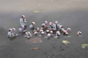 An art installation by artist Isaac Cordal in Montreal, 2015. Source: Facebook page