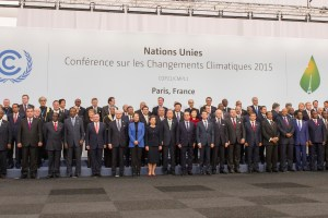 Secretary-General Ban Ki-moon at the family photo of Leaders at COP21. Source: UNFCCC