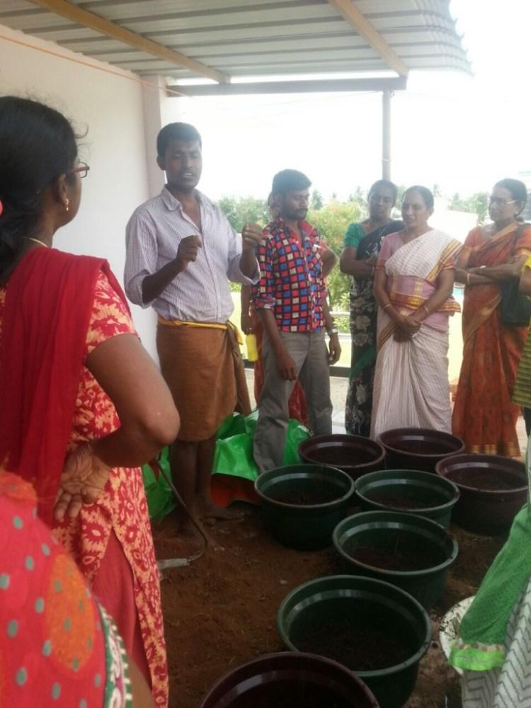 Paramu, the aeronautical engineer turned farming instructor.