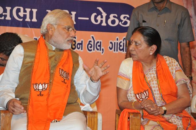 File photo of Narendra Modi and Anandiben Patel (source Bill William Compton Wikipedia Commons)