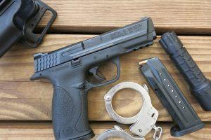 A Smith & Wesson M&P 9 handgun. Credit: capcase/Flickr, CC BY 2.0