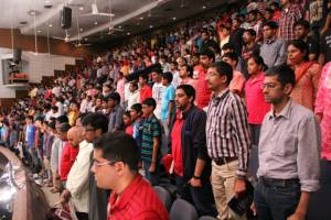A section of the audience just before the preliminary round at the 2013 Landmark Quiz, Chennai. Source: Landmark Stores (Facebook)