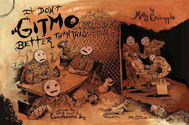 A sketch of Guantanamo Bay