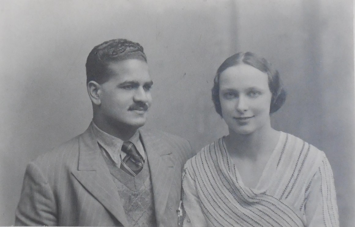 Freda Bedi with her husband BPL Bedi whom she married after meeting in Oxford