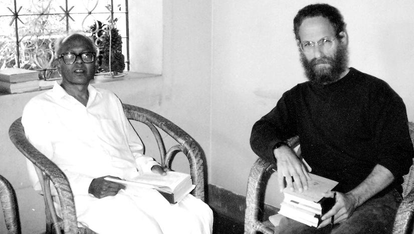 Sheldon Pollock with the renowned Kannada Writer T. V. Venkatachala Sastry. Credit: Sathyavrath/Wikimedia