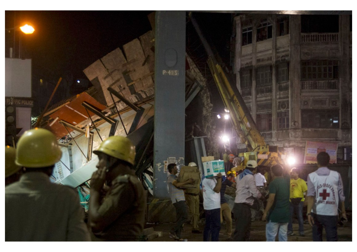 One of the biggest challenges in the rescue operation is to navigate the cranes and the larger machines through the extremely crowded and narrow lanes of Burrabazar, one of the oldest and busiest parts of Kolkata.