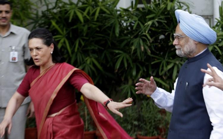 Manmohan and Sonia Gandhi in May 2009. Credit: Shome Basu