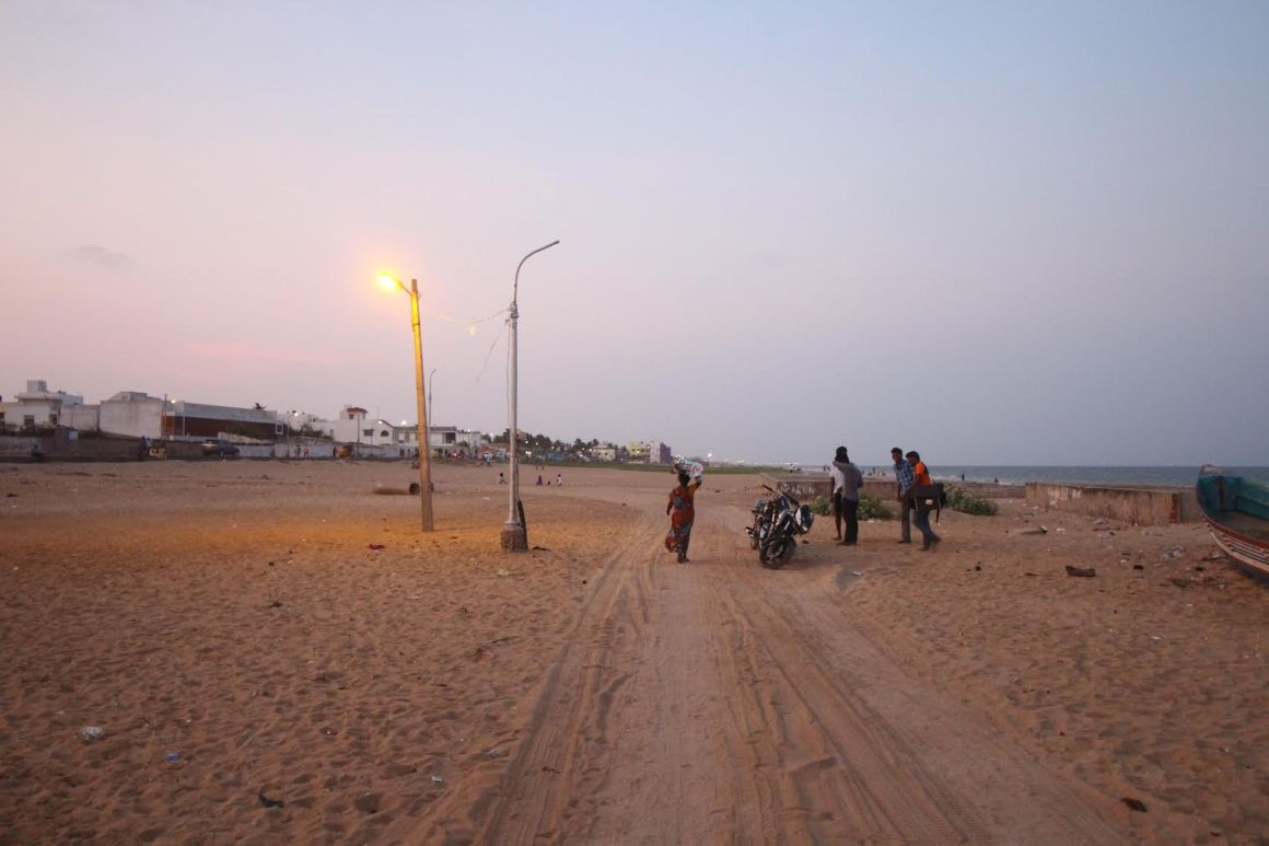 An illegal road near Palavakkam beach. Credit: Sibi Arasu