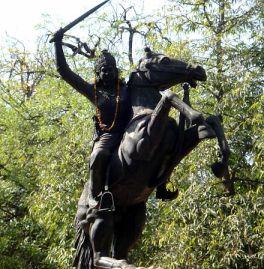 Statue of Jhalkari Bai in Gwalior. Credit: Wikimedia Commons