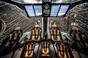 Inside the Dragon capsule. Credit: SpaceX