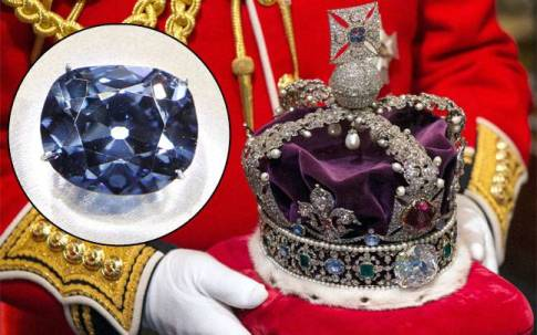 The Kohinoor diamond, embedded in the crown of the British monarch. Credit: Reuters.