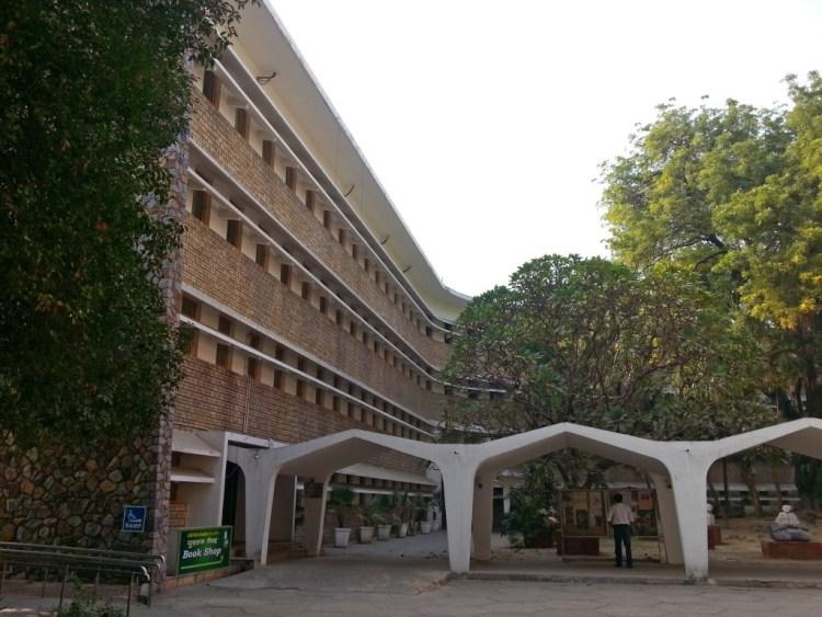 Rabindra Bhawan, Delhi which houses the Sangeet Natak Akademi, Lalit Kala Akademi and Sahitya Akademi. Credit: Wikimedia Commons