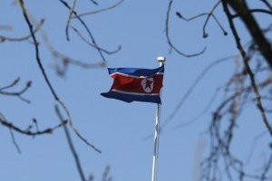A North Korean flag is pictured at its embassy in Beijing January 6, 2016. Credit: Reuters/Kim Kyung-Hoon/Files