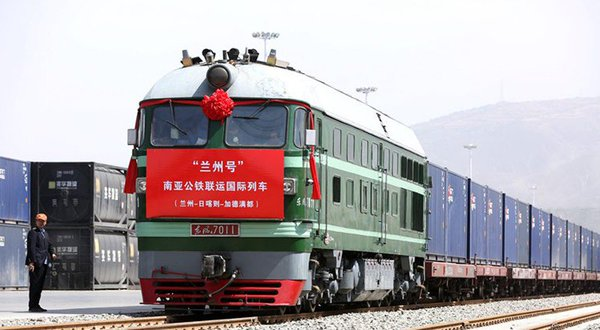 China's new freight train. Credit: Twitter