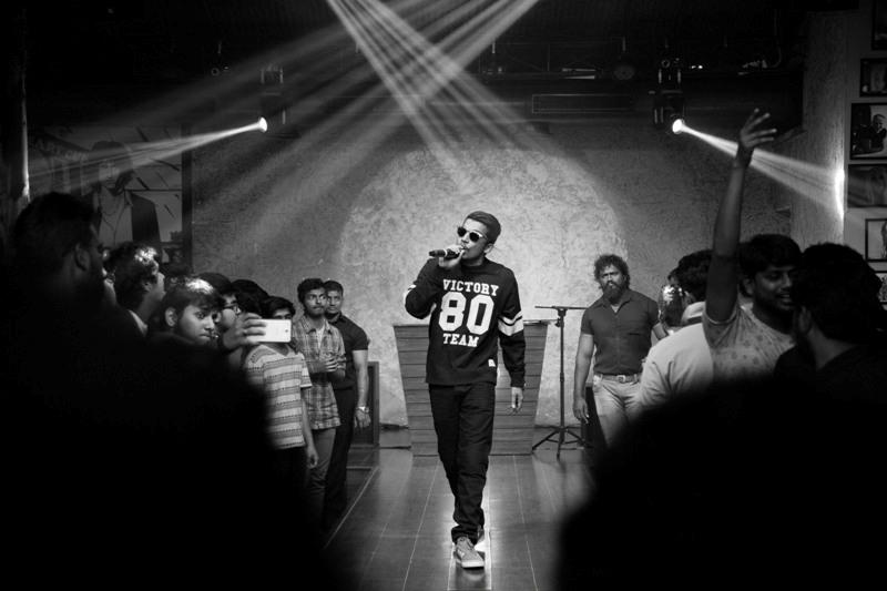 Mumbai hip hop artiste Naezy in action