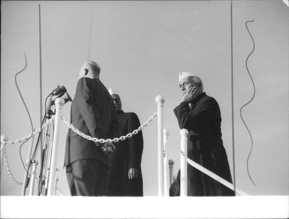 Nehru in a contemplative mood. Credit: Photo Division