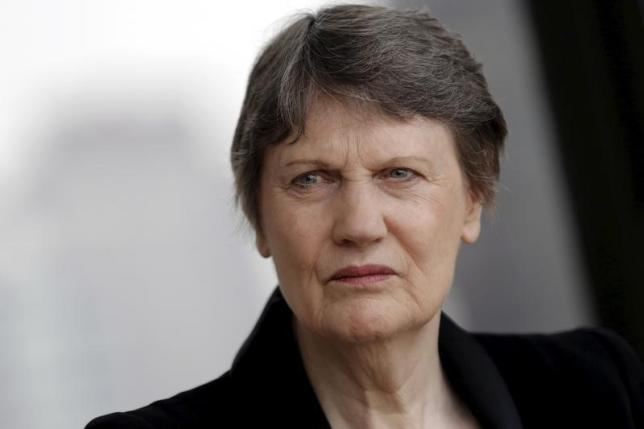 Helen Clark, former Prime Minister of New Zealand and current Administrator of the United Nations Development Program, speaks during an interview in New York April 4, 2016. Credit: Reuters/Brendan McDermid/Files.