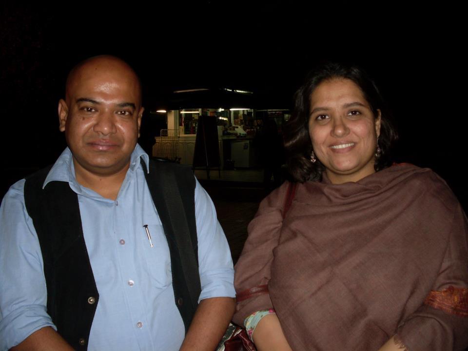 Filmmakers Shubhradeep Chakravorty and Meera Chaudhary