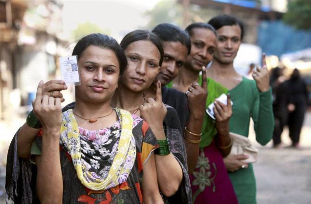 Transgender voters in India. Credit: PTI.