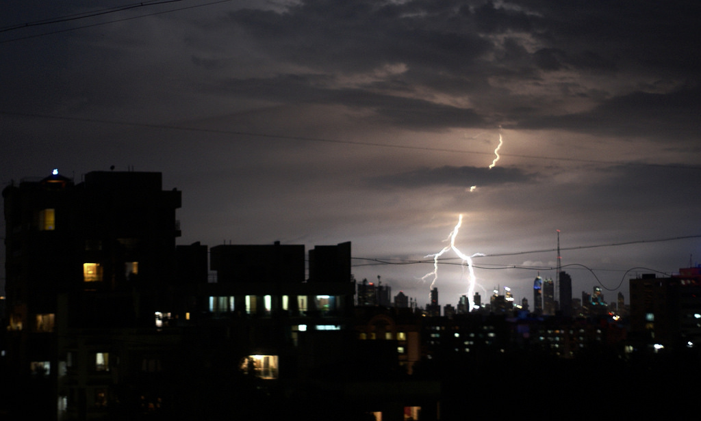 Lightning flashes over Pune, September 2010. Credit: deutero/Flickr, CC BY 2.0