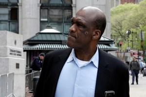 John Ashe, former United Nations General Assembly president and UN ambassador from Antigua and Barbuda, arrives at the Manhattan US District Courthouse in New York, US, May 9, 2016. Credit: Reuters/Mike Segar