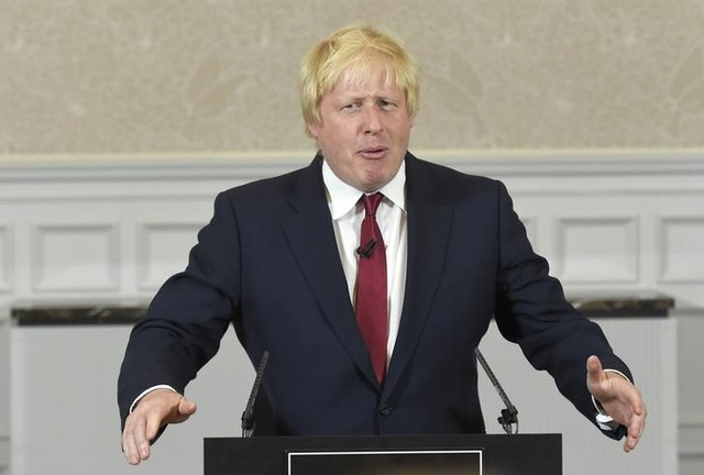 Boris Johnson delivers a speech in London, Britain June 30. Credit: Reuters/Toby Melville