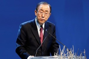 UN Secretary-General Ban Ki-moon speaks during the opening ceremony of the World Humanitarian Summit in Istanbul, Turkey, May 23, 2016. Credit: Reuters/Osman Orsal