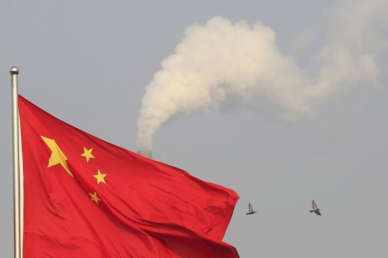 Bandeira chinesa em um subúrbio de Xangai. 09/01/2015 REUTERS/Aly Song