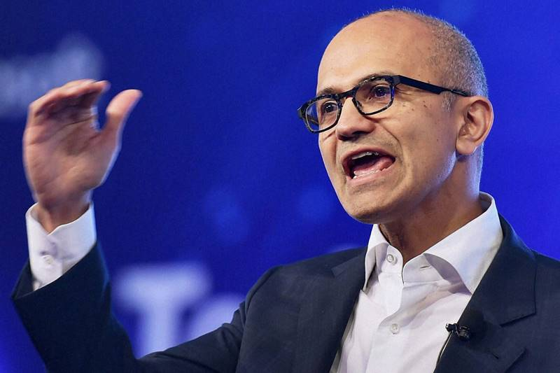 Microsoft CEO Satya Nadella's focus has been towards enterprise software over the last two years. Credit: PTI