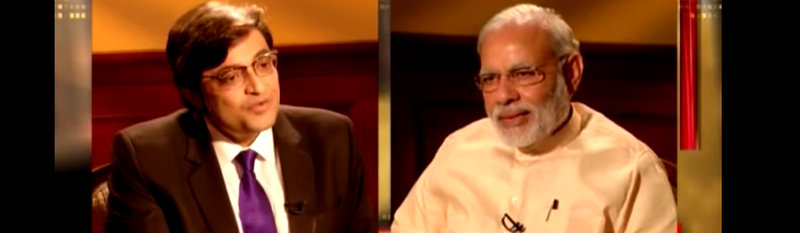 A screenshot for Prime Minister Narendra Modi's interview with Times Now. Credit: YouTube