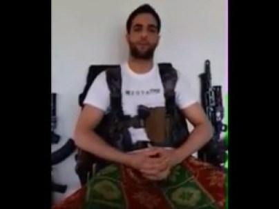 Video grab of Hizbul Mujahideen commander Burhan Wani
