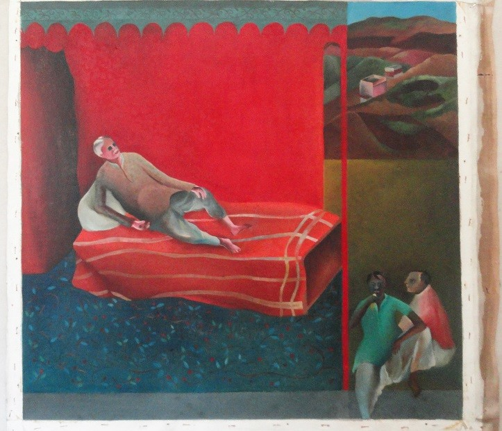 'Man on Bed' by Bhupen Khakhar. Credit: Bhupenkhakharcollection.com