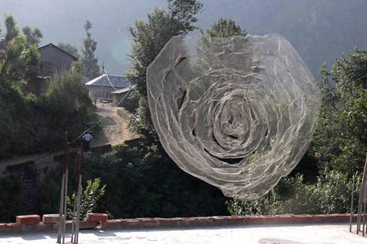 Puneet Kaushik's installation 'Rose.' Credit: 4 Tables Project