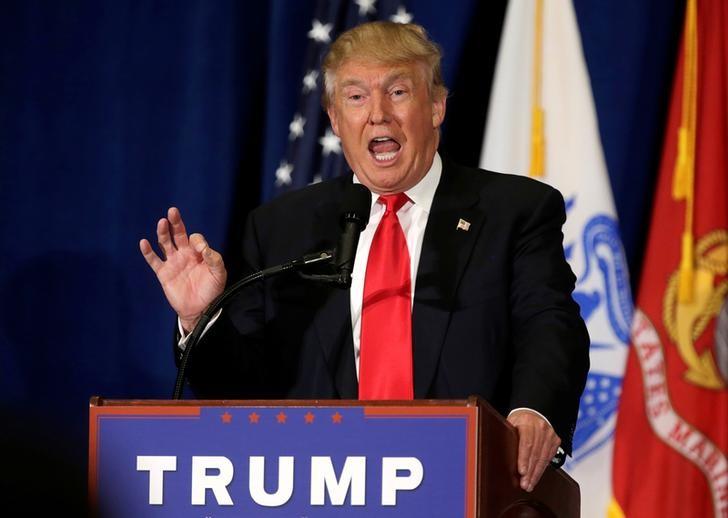 Presumptive Republican presidential nominee Donald Trump delivers a speech in Virginia Beach, Virginia, US, July 11, 2016. Credit: Reuters/Gary Cameron