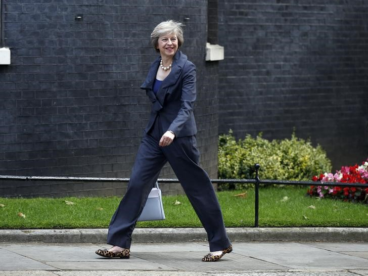 Britain's home secretary Theresa May, who is due to take over as prime minister on Wednesday, arrives for a cabinet meeting at number 10 Downing Street, in central London, Britain July 12, 2016. Credit: Reuters/Peter Nicholls
