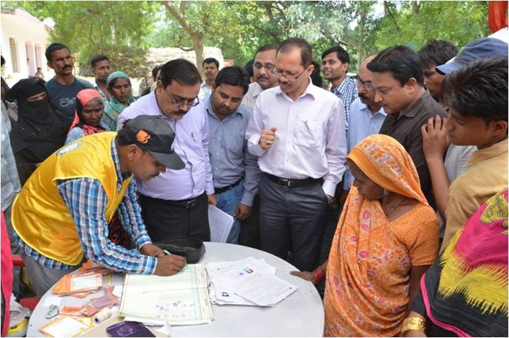 Business correspondent providing banking services in villages. Credit: Bank of Baroda