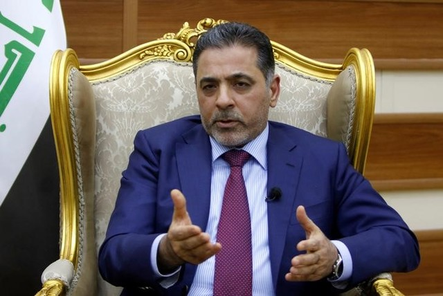 Iraqi interior minister Mohammed Salem al-Ghabban speaks during an interview with Reuters in Baghdad June 14, 2016. Credit: Reuters/Ahmed Saad