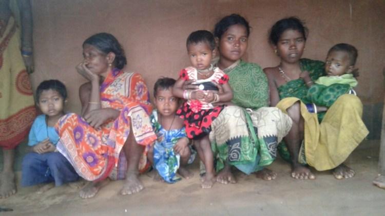 Young mothers with their children in Nagada. Source: Sarada Lahangir