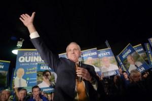 Malcolm Turnbull in full fight. Credit: EPA