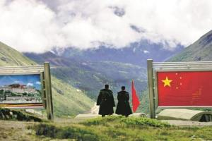 The India-China border at Nathula. Credit: PTI