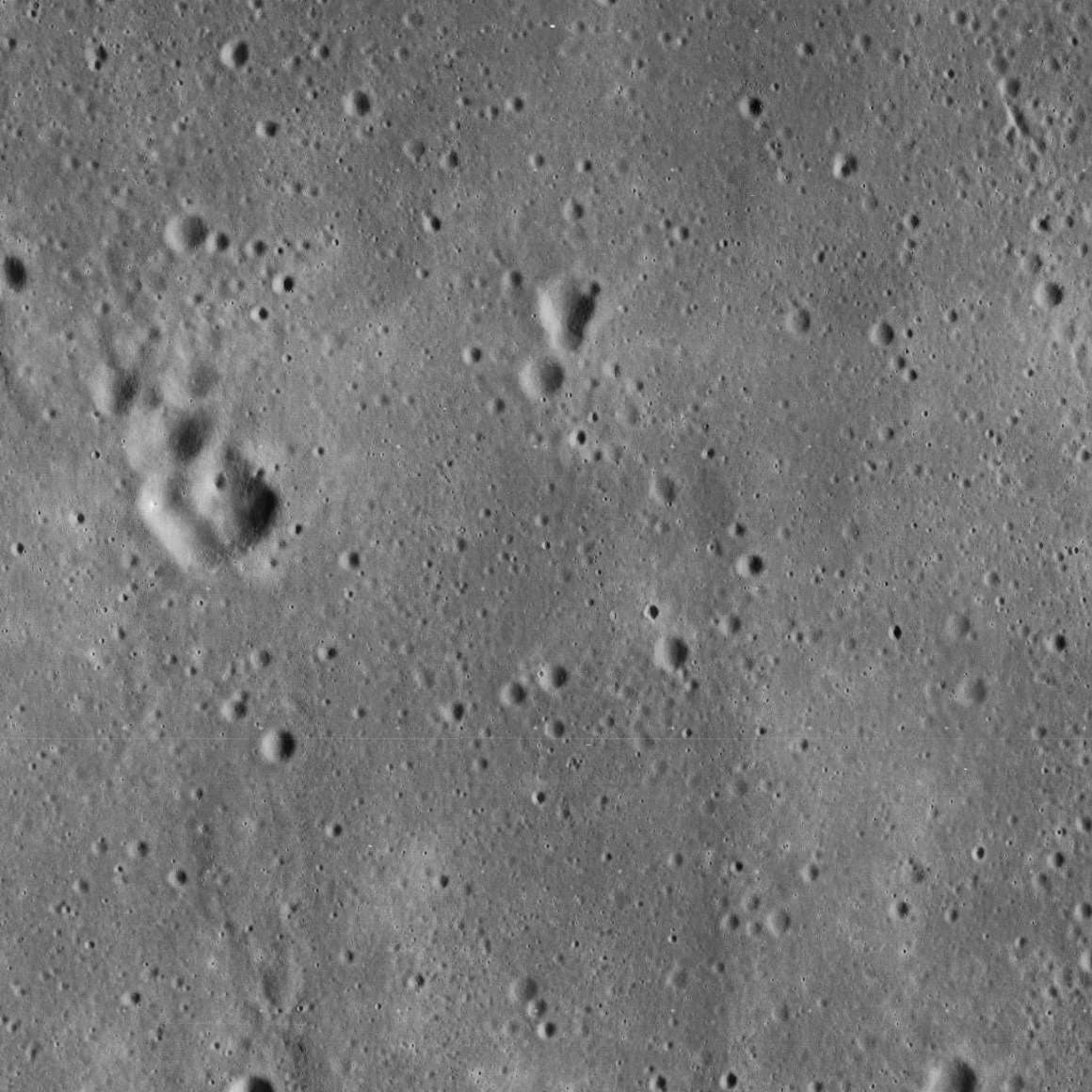 The vicinity of the landing site of the Apollo 11 mission in 1969. This image was captured by the Lunar Orbiter 5 mission in 1967. Credit: James Stuby/Wikimedia Commons