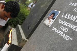 Lasantha Wickrematunge's grave. Credit: Reuters/Files