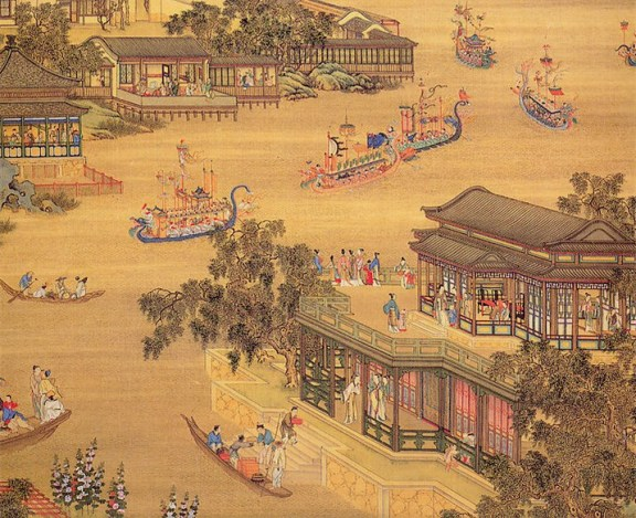 Artist's impression of dragon-boat festival. Medieval China. Courtesy: Pratyay Nath/seera.com