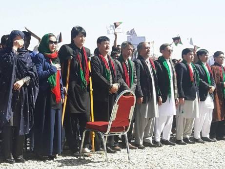 Zulfiqar Khan Omid at the September 2 rally. Credit: Facebook