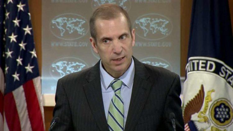 Mark C. Toner, addressing the media. Credit: Reuters
